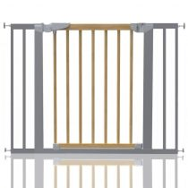 Safetots Beechwood and Metal Pressure Fit Gate 96.7cm - 104.1cm