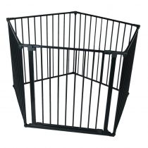 Safetots Pet Pen Black Pentagon